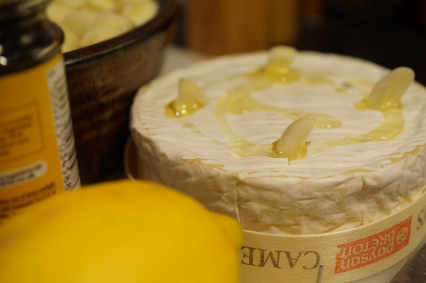 Camembert before baking