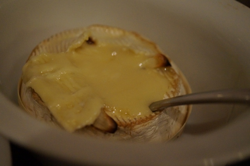 Camembert after baking
