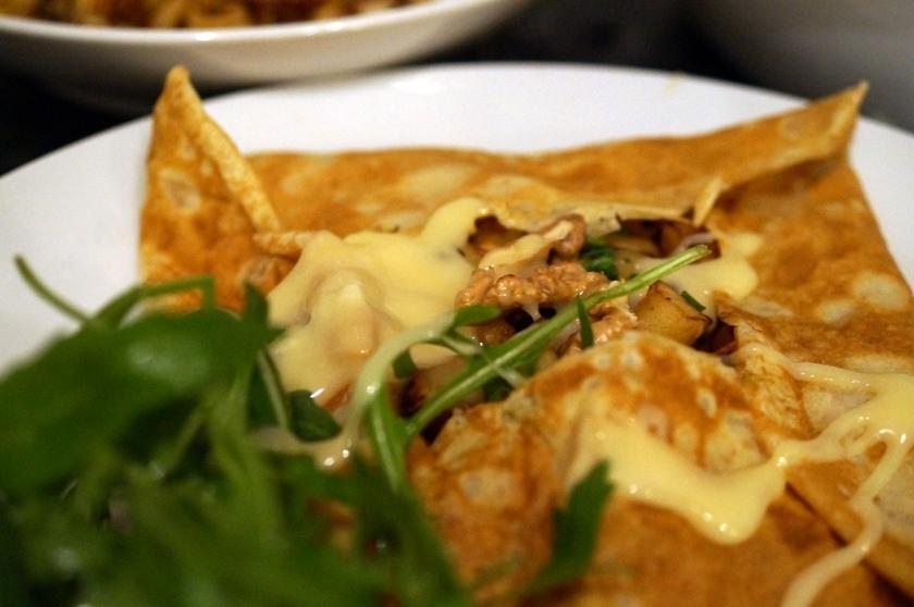 Savoury Pancake with Parsnips & Camembert