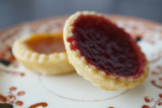 Tangerine and Raspberry Tarts