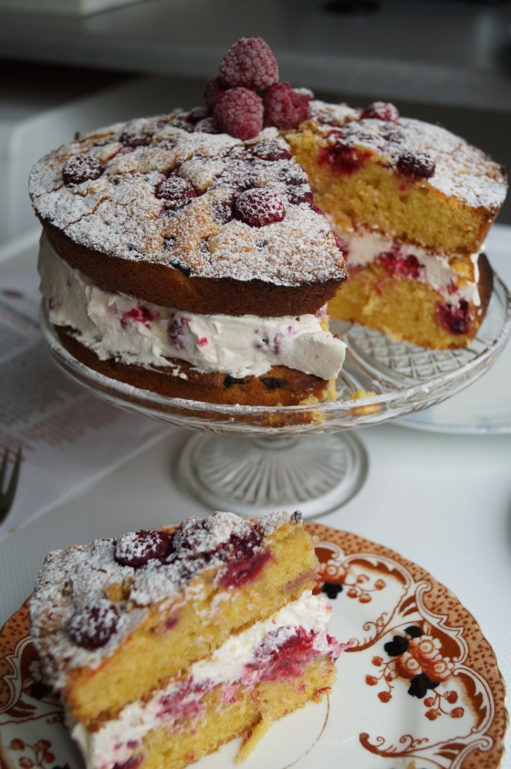 raspberry and polenta cake