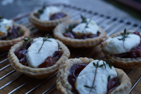 Goats cheese tarts