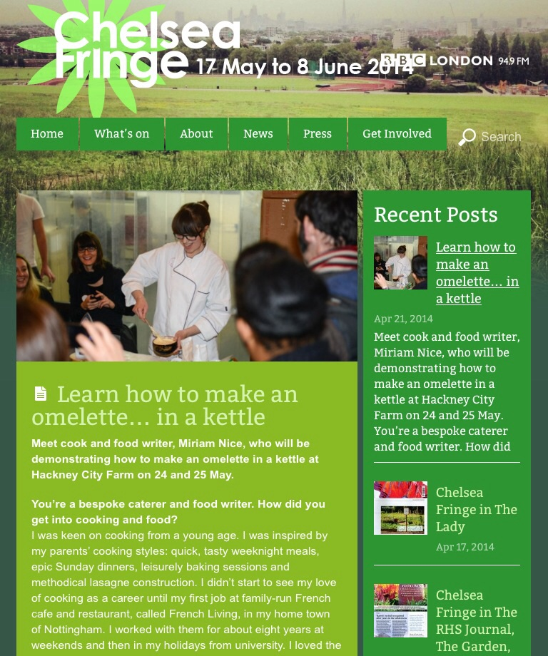 Interview with the Chelsea Fringe organisers