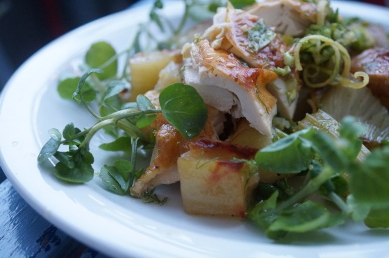Summer Roast Chicken with Watercress